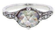 Cathy Waterman Grey Moghul Diamond Petal Side Ring - Platinum
