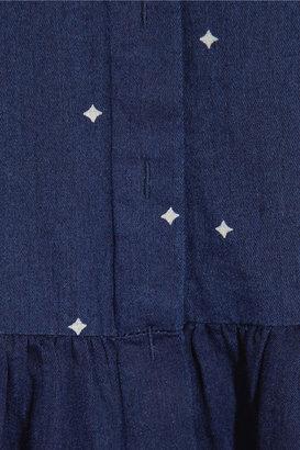 Chinti and Parker Printed chambray shirt dress