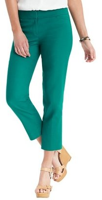 LOFT Zoe Cropped Pants in Doubleweave Cotton