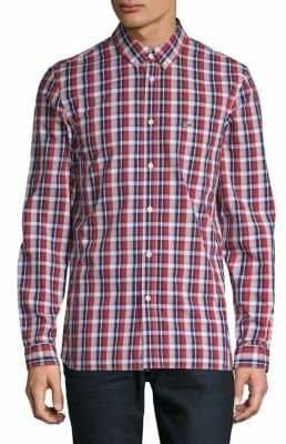 Lacoste Cotton Plaid Button-Down Shirt