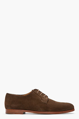 A.P.C. Dark Brown Suede Derby Lace-Up Shoes