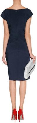 Philosophy di Alberta Ferretti Navy Blue Gathered Waist Dress