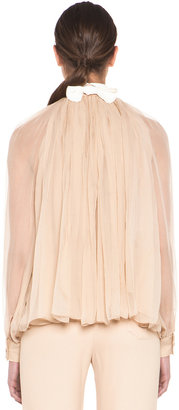 Chloé Bow Blouse in Nude