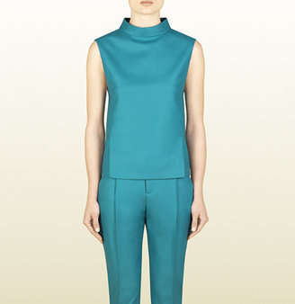 Gucci Turquoise Blue Sleeveless Top
