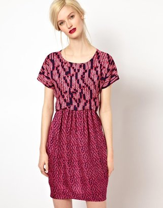 See by Chloe Silk Dress in Granite Print
