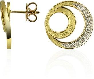 Torrini Infinity 18K Yellow Gold Diamond Earrings