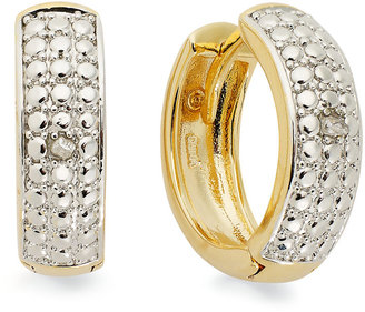 Townsend Victoria 18k Gold over Sterling Silver Earrings, Diamond Accent Small Hoop Earrings