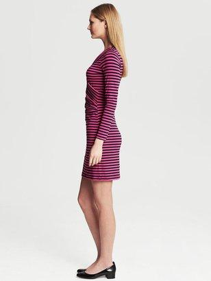 Banana Republic Striped Faux-Wrap Dress