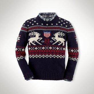 Reindeer Crewneck Sweater