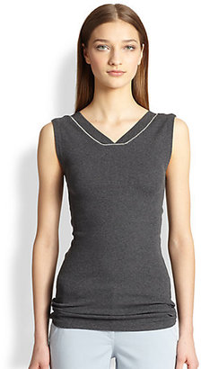 Brunello Cucinelli Detailed Ribbed Top