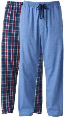 Hanes Big & Tall 2-pack Plaid Woven Pajama Pants