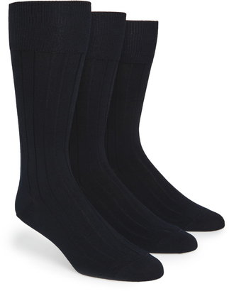 Calvin Klein 3-Pack Wide Rib Dress Socks