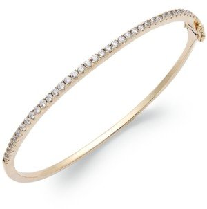 Arabella Sterling Silver Swarovski Cubic Zirconia Bangle Bracelet (1-3/4 ct. t.w.) (Also available in 14k Gold over Sterling Silver)