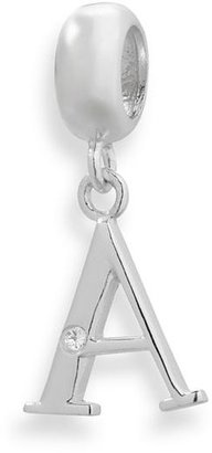 Individuality beads sterling silver diamond accent initial charm