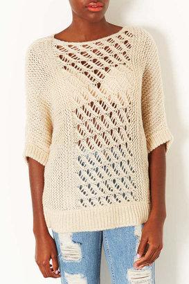 Topshop Knitted Mix Tabbard Jumper