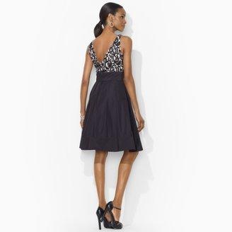 Ralph Lauren Belted Lace Dress