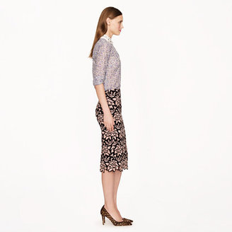 J.Crew Collection No. 2 pencil skirt in Italian guipure lace