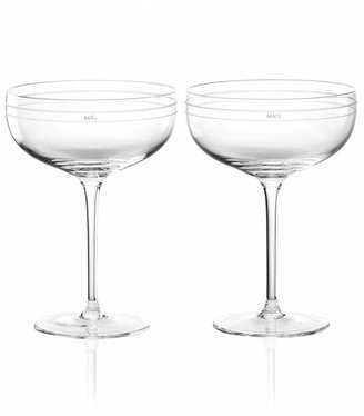 Kate Spade Darling Point Champagne Saucer Pair
