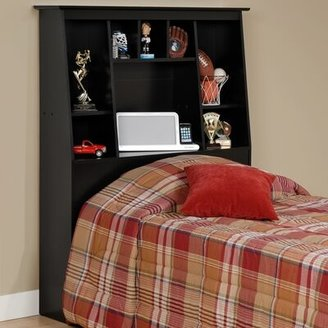 Prepac Storage Twin Bookcase Headboard Size: Full/Queen, Finish: Black