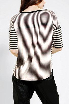 Sparkle & Fade Striped Swing Tee