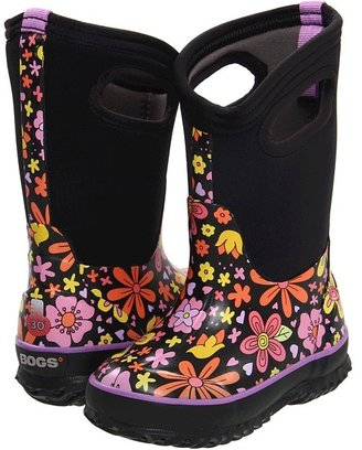 Bogs Classic Crazy Daisy Boot (Toddler/Little Kid/Big Kid) (Black Multi) - Footwear