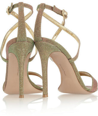 Gianvito Rossi Metallic glittered sandals