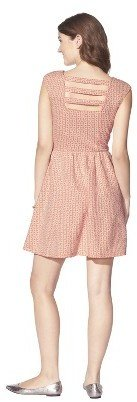 Junior's Textured Fit & Flare Dress