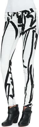 Rag and Bone The Legging Jeans, White Robot