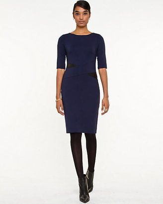Le Château Ponte Boat Neck Shift Dress