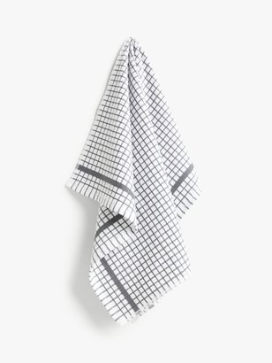 John Lewis & Partners Terry Check Cotton Tea Towel