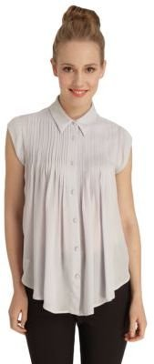 Catherine Malandrino CATHERINE Cap-Sleeve Button-Front Blouse