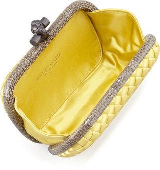 Bottega Veneta Snake-Trimmed Veneta Minaudiere