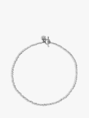 Dower & Hall Sterling Silver Nomad Nugget Bead Necklace, Silver