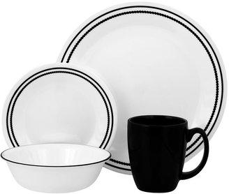 Corelle livingware brilliant black beads 16-pc. dinnerware set