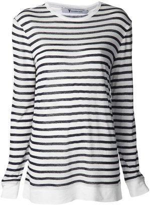 Alexander Wang stripe burnout top