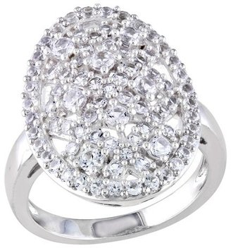 1 7/8 CT.T.W. Created White Sapphire Shared Prong Ring in Sterling Silver