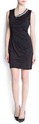 MANGO Draped asymmetric dress