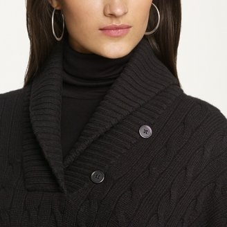 Ralph Lauren Black Label Cable-Knit Cashmere Poncho