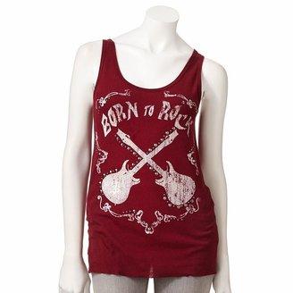 "Rock & Republic born to rock"" ribbed tank - women's"