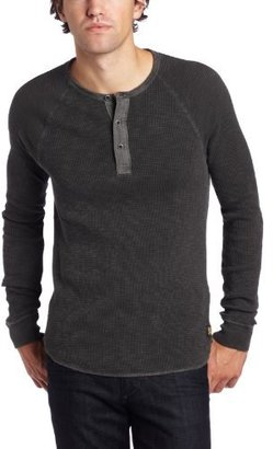Lucky Brand Men's Slub Thermal Placket At Neckline Henley Shirt