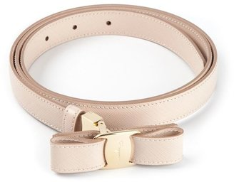 Salvatore Ferragamo bow detail belt