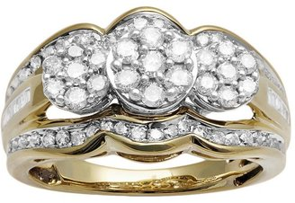 Diamond engagement ring in 10k gold (1 ct. t.w.)