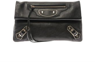 Balenciaga Classic edge-line leather envelope clutch