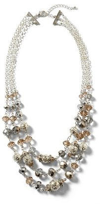 White House Silvertone Filigree Multi-Strand Necklace