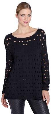 Catherine Malandrino CATHERINE Solid Hole Sweater