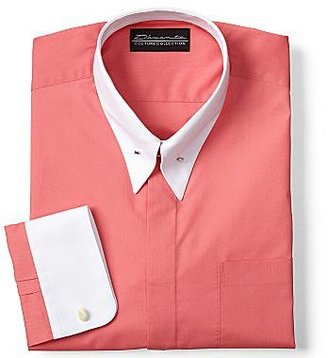 JCPenney D'Amante White Contrast-Collar Dress Shirt