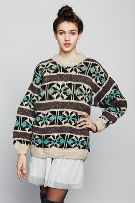 Urban Outfitters Vintage Geo-Stripe Sweater