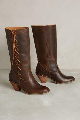 Anthropologie Latigo Monte Carlo Boots Brown 8 Boots