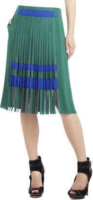 BCBGMAXAZRIA Runway Odette Pleated Skirt