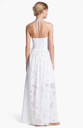 Betsey Johnson Halter Eyelet Maxi Dress